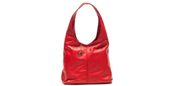 Dámska červená kabelka s jedným uchom Roberta Minelli