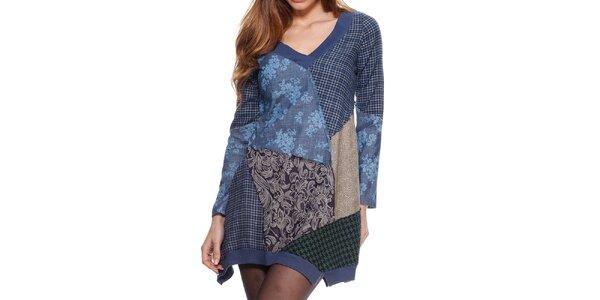 Dámske patchworkové šaty Kool