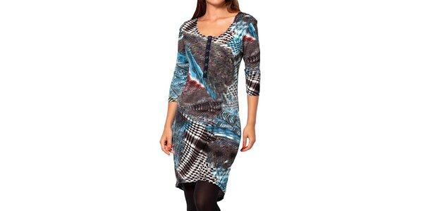 Dámske modro-šedé šaty Kool