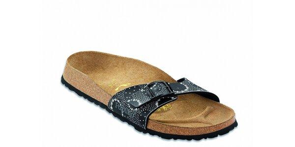 Dámske čierne ortopedické papuče Papillio