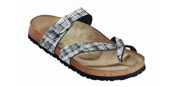 Dámske čierno-biele kockované papuče Papillio