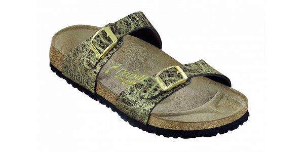 Dámske zlato hnedé papuče Papillio
