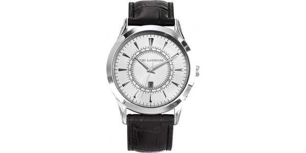 Pánske oceľové hodinky s bielym ciferníkom Ted Lapidus