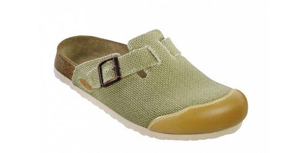 Dámske béžové papuče s uzavrenou špičkou Papillio