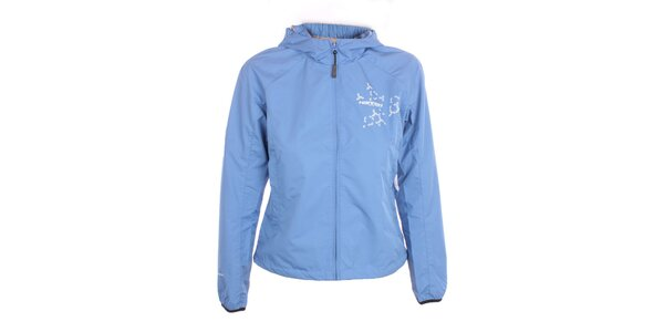 Dámska ľahká modrá bunda s kapucňou Hannah