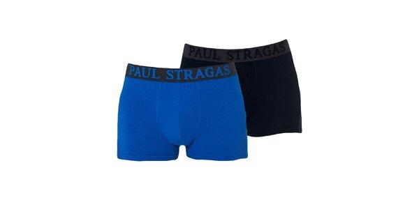 Set modrých a čiernych pánskych boxeriek Paul Stragas