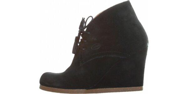 6b3093542b8ea Dámske čierne kotníkové topánky Dr. Scholl s podpätkom