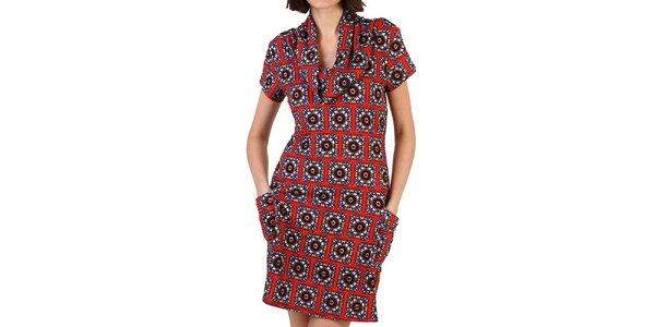 Dámske vínové šaty so vzorom Pepper Tree