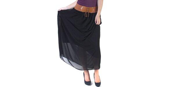 Dámska čierna maxi sukňa Pepper Tree