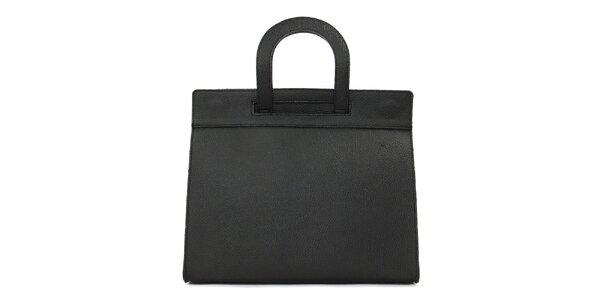 Dámska čierna kožená kabelka Kreativa bags