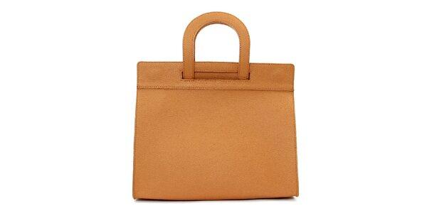 Dámska hnedobéžová kožená kabelka Kreativa bags