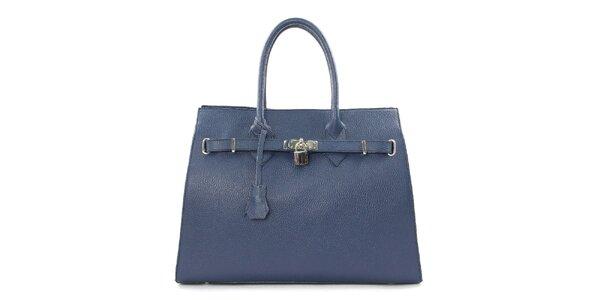 Dámska tmavo modrá kabelka so zámčekom Kreativa Bags