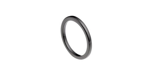Dámsky čierny keramický prsteň Ceramic Line