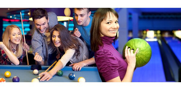 Poďte s kamošmi na hoďku bowlingu či billiardu!