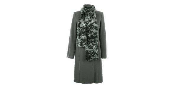 Dámsky béžový kabát s hrejivým šálom inAvati