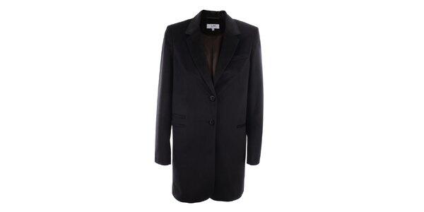 Dámské tmavé sako s gombíkmi a tmavo hnedou podšívkou inAvati