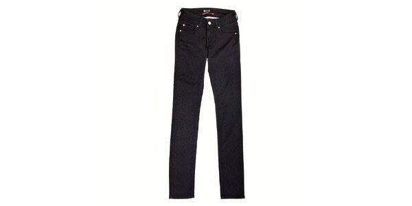 Dámske čierne džíny Pepe Jeans s gepardím vzorom