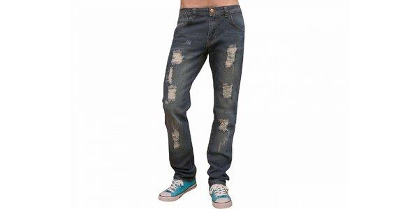 Pánske modré džínsy Fiveunits
