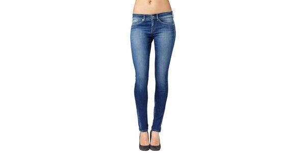 Dámske modré skinny džínsy Pepe Jeans