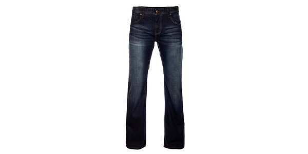Pánske tmavo modré džínsy Exe Jeans