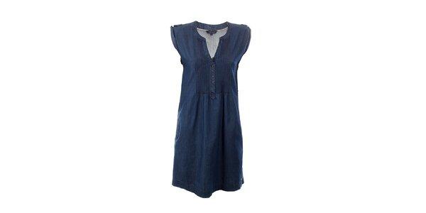 Dámske tmavo modré džínsové šaty Tommy Hilfiger