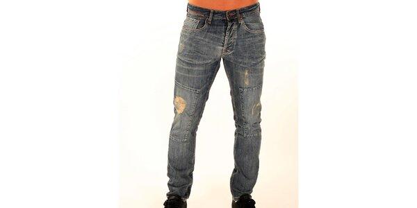 Pánske džínsy s trhlinami New Caro