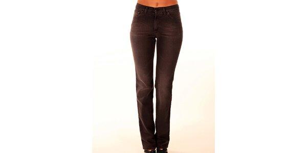 Dámske hnedé džínsy s rovným strihom Trussardi