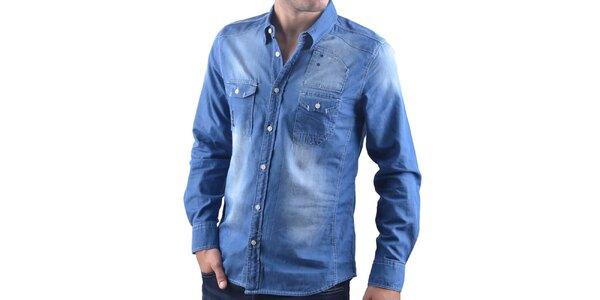Pánska modrá džínsová košeľa RNT23