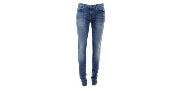 Dámske svetlo indigové šisované džínsy Fuga