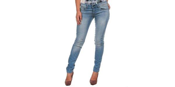 Dámske svetlo modré džínsy s šisovaním Calvin Klein