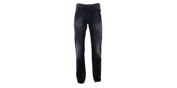 Pánske tmavo modré džínsy s vyšúchaním Big Star