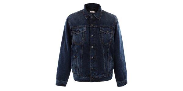 Pánska tmavo modrá džínsová bunda Big Star