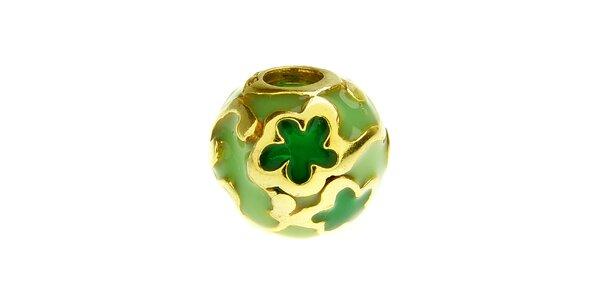 Dámska zelená korálka s kvetinami Bacio