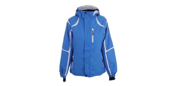 Dámska modrá zimná bunda s bielymi prvkami Joluvi