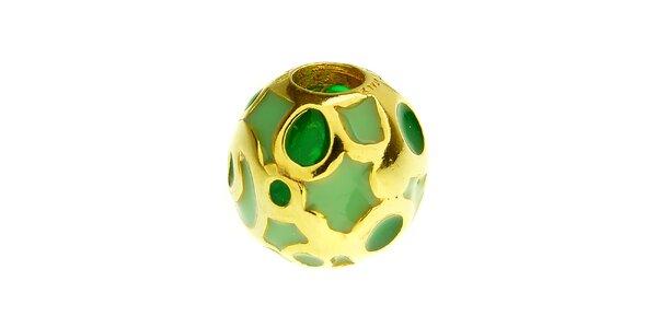 Dámska zelená korálka s kolieskami Bacio