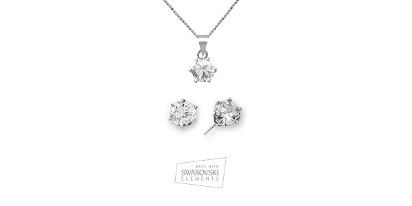 Dámska sada šperkov s kamienkami Swarovski Elements - náušnice a náhrdelník