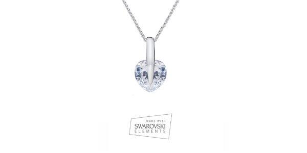 Dámsky náhrdelník so srdiečkovým príveskom Swarovski Elements