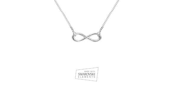 Dámsky náhrdelník so znakom nekonečna Swarovski Elements