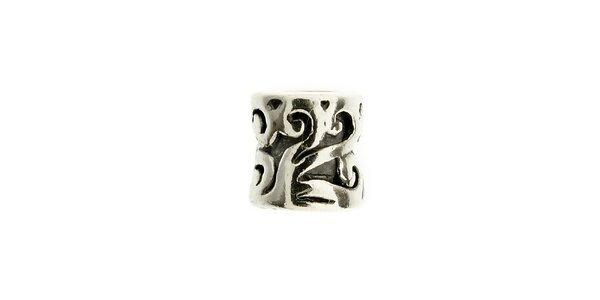 Dámska strieborná korálka Bacio s ornamentmi