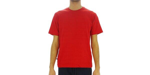 Pánske sýto červené bavlnené tričko Southpole