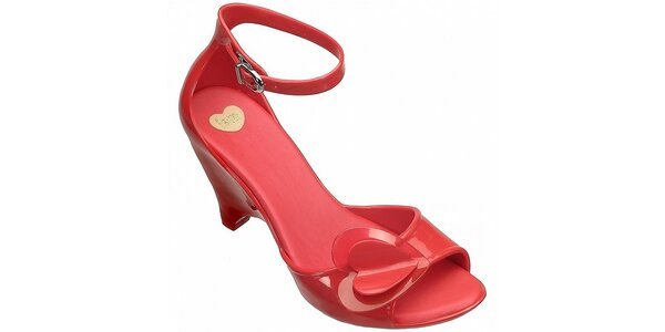 Dámske červené sandále Mel na vysokom kline