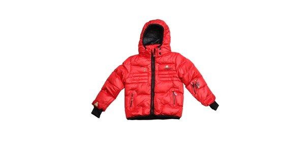 Detská červená prešívaná zimná bunda Peak Mountain