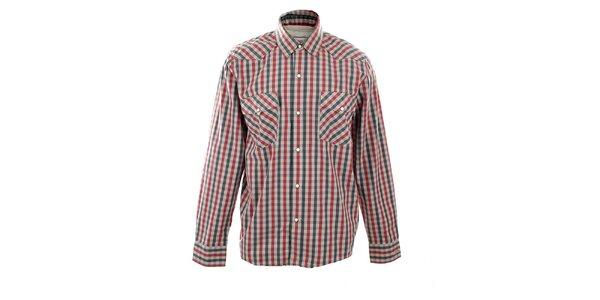 Pánska červenošedá kockovaná košeľa Big Star