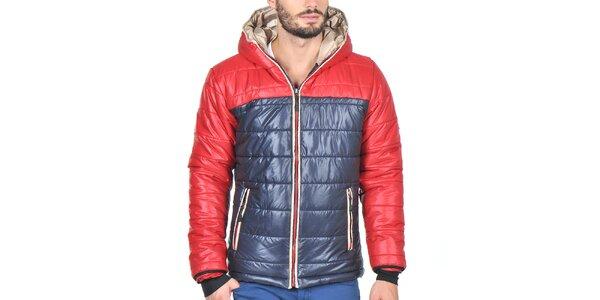 Pánska prešívaná bunda s červenými rukávmi Giorgio di Mare