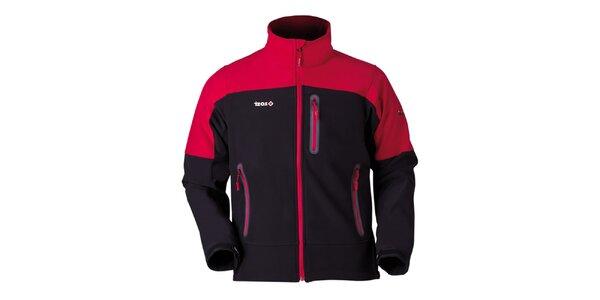Pánska červeno-čierna bunda na zips Izas