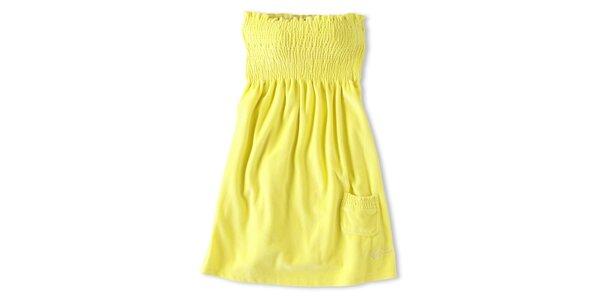 Dámske kanárikovo žlté šaty Brunotti