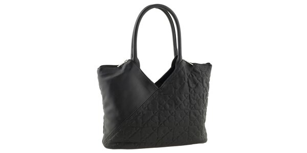 Dámska čierna kabelka so srdiečkami Tina Panicucci