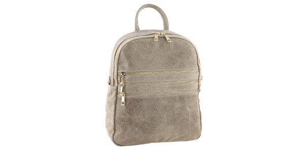 Dámsky svetlý kožený batôžtek Tina Panicucci