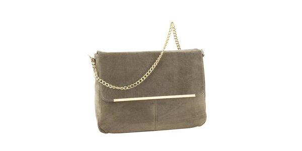 Dámska kožená kabelka so zlatou retiazkou Tina Panicucci