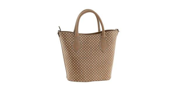Dámska kožená kabelka s bodkami Tina Panicucci